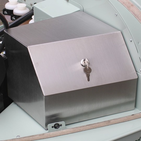 Security box for right hand drive cars in stainless steel - fits under the...