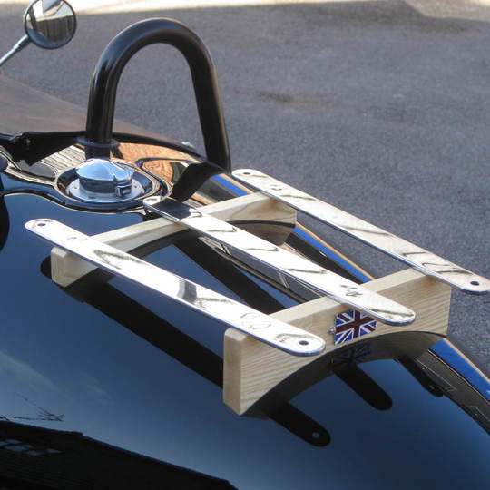 Luggage rack for 3 wheeler with ash slats