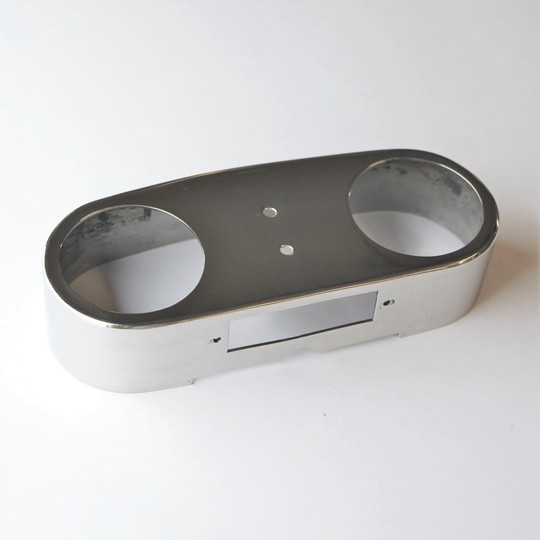 Stainless steel shroud for rear light (polished)