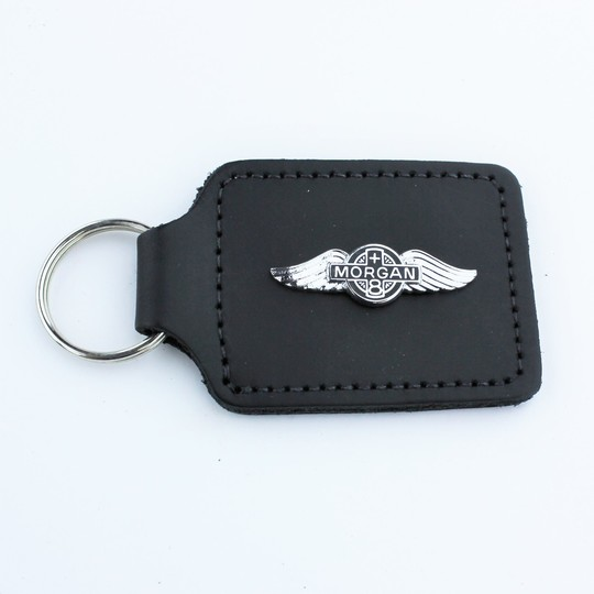 Leather key fob +8