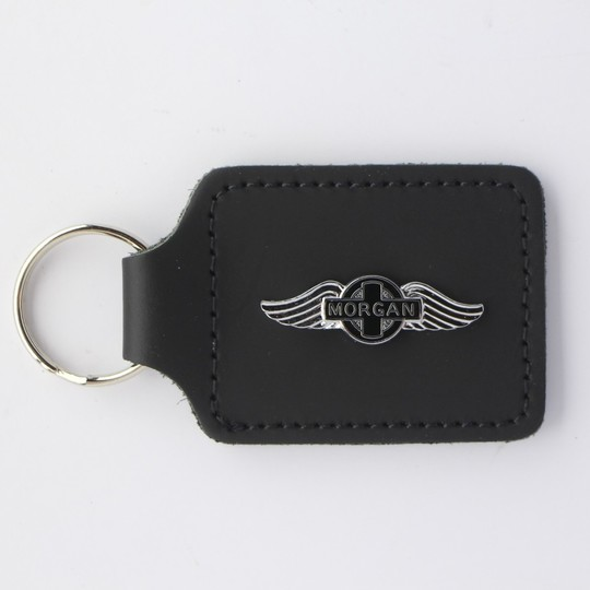 Leather key fob plain Morgan wings
