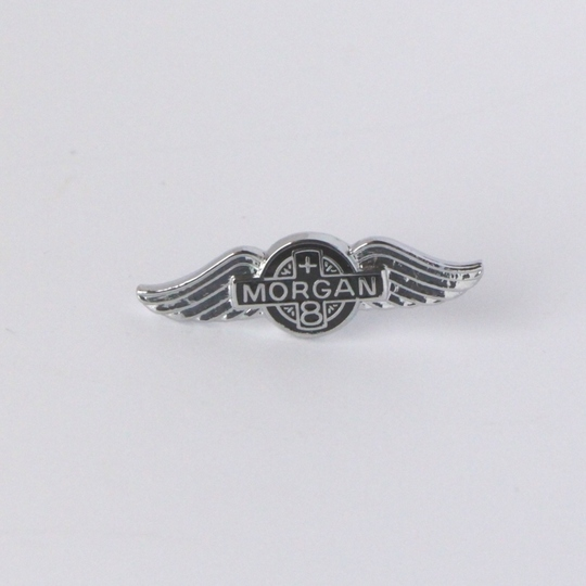 Small enamel Morgan wings pin badge +8