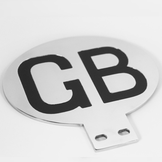 Polished stainless steel GB plate