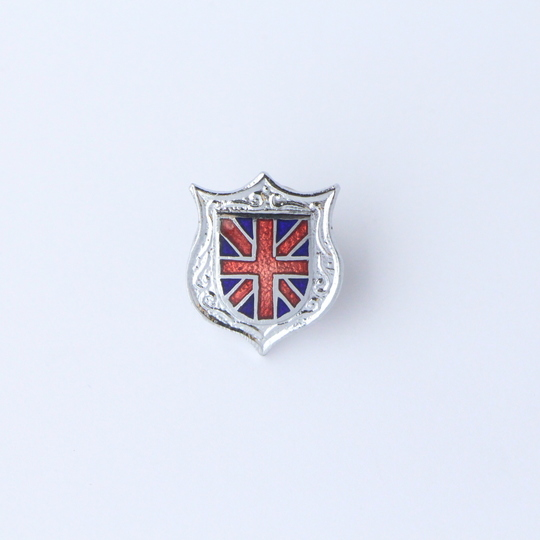 Union Jack pin badge - small shield
