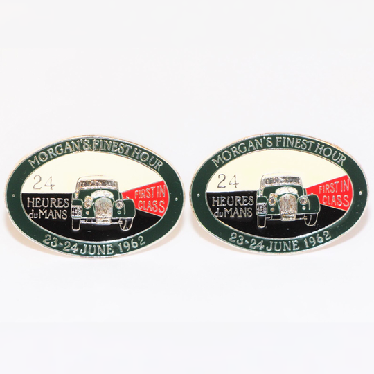 Finest Hour Le Mans cuff links - silver plated