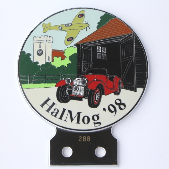 Halmog '98 car badge