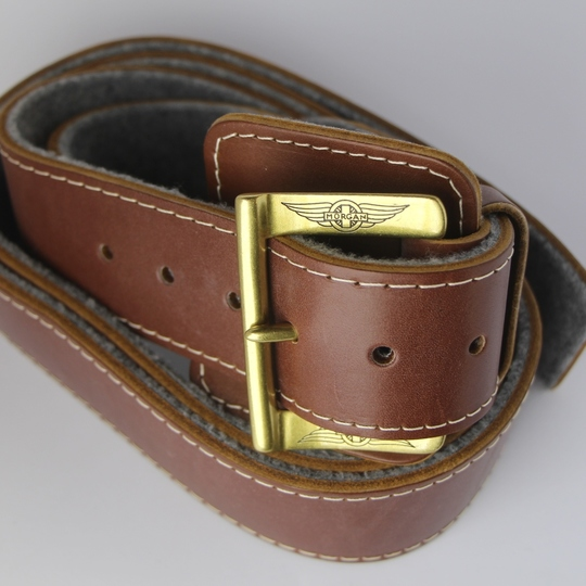 Bonnet strap - brown with felt backing