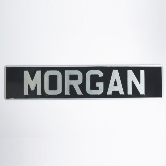 Pressed alloy number plate 'MORGAN'
