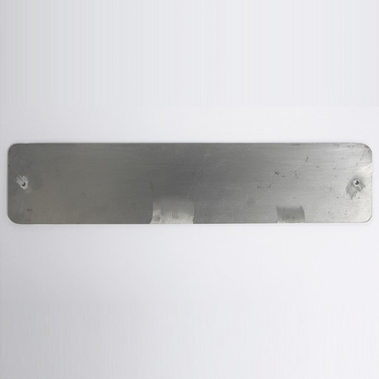 Front number plate backing panel (aluminium)