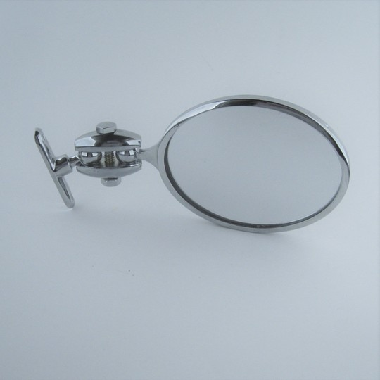 Oval rear view mirror for flat rads & coupes (mounts on windscreen pillar)