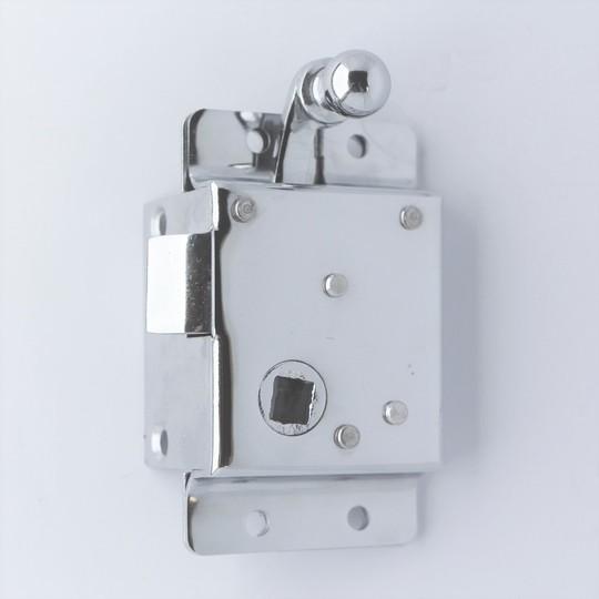 Chrome inner door lock pre 1972 roadster (lh)