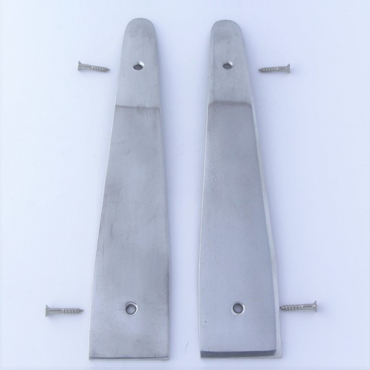 Trim protector lh 4/4 4str 1972-6/97 - polished aluminium (fits to door catch...