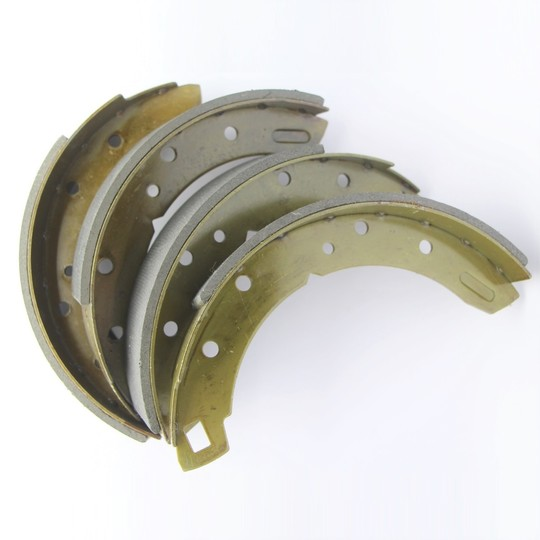 "Brake shoes rear axle set 1 3/4"" wide (asbestos free), for +4 1958 to 7/1993,..."