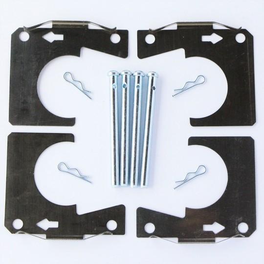 Pad retaining pin & anti squeal kit 4/4 1966-1994 & +4 1966-68