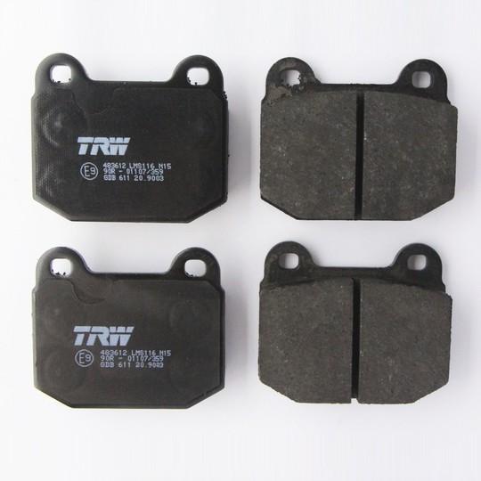 Brake pads axle set +8 1978 to 7/1993
