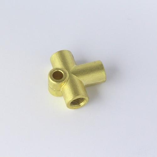 3 way brass union (fits on rear axle)