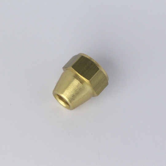 "Brass female nut 'unf' - use with 1/4"" o/d tube"