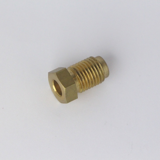 "Brass male nut 'unf' - use with 1/4"" o/d tube"
