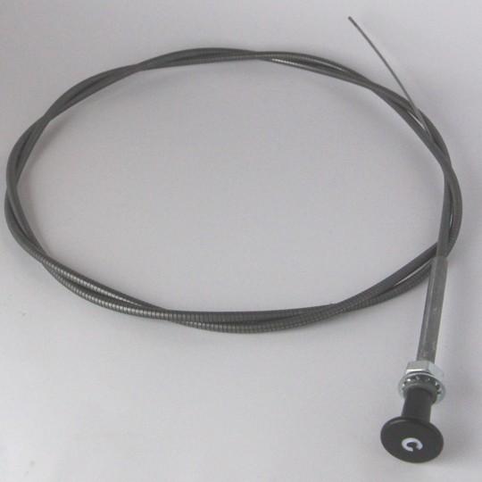 Choke cable + black knob pre 1968 cars and 4/4 post 1968