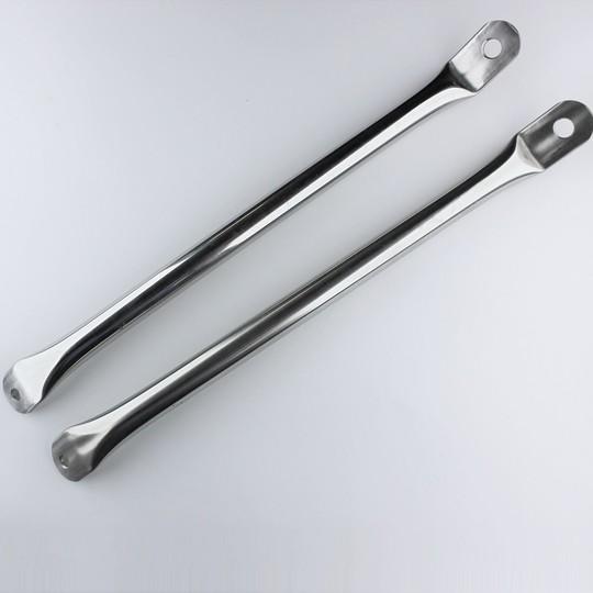 Brake reaction bars in stainless steel