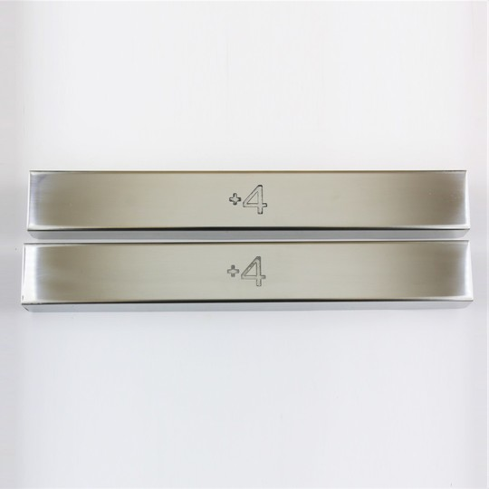 Polished stainless steel covers for front chassis cross member on +4 Rover -...