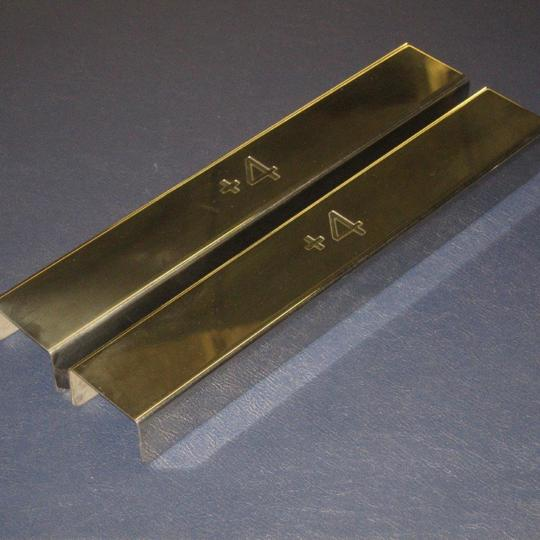 Polished stainless steel covers for front chassis cross member on +4 Triumph...