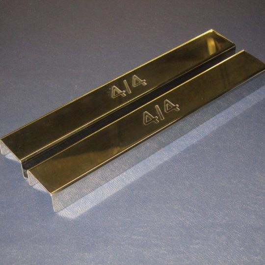 Polished stainless steel covers for front chassis cross member on 4/4 1600...