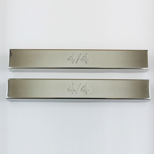 Polished stainless steel covers for front chassis cross member on 4/4 1800...