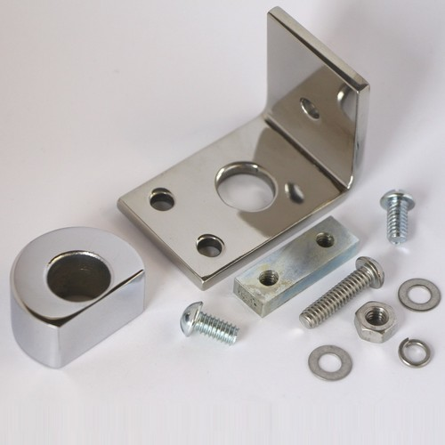 Spot lamp bracket with plinth for square badge bar