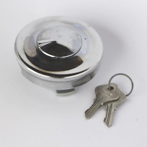 Round locking fuel cap