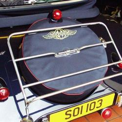 Stainless steel luggage rack 2 str 2/1998 on & mounting kit for 'overrider' cars