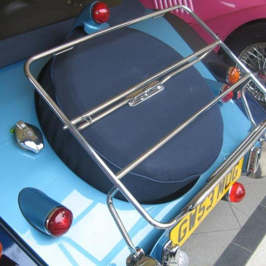 Stainless steel luggage rack 2 str for 'overrider' cars & mounting kit, with...