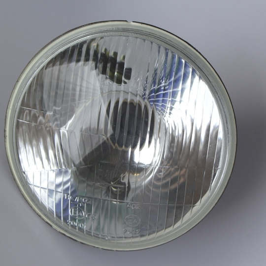 Headlamp unit left hand drive, domed glass - 1987-1/95 (Lucas)