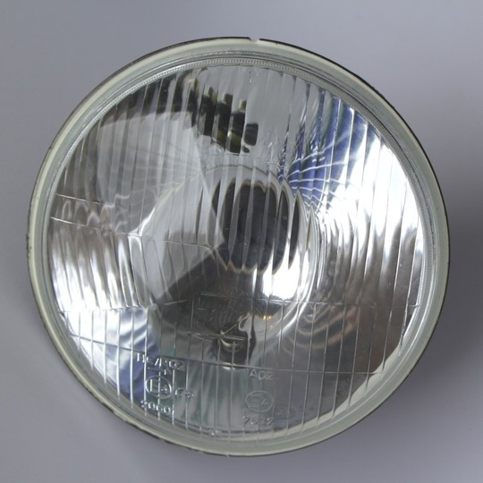 Headlamp unit right hand drive, domed glass - 1987-1/95 (Lucas)
