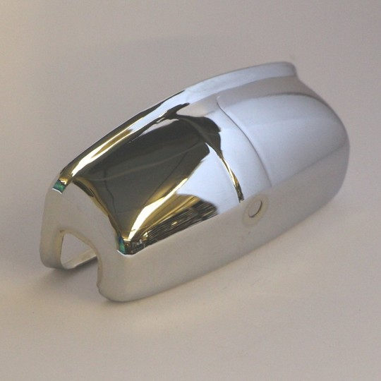 Chrome cover for number plate lamp