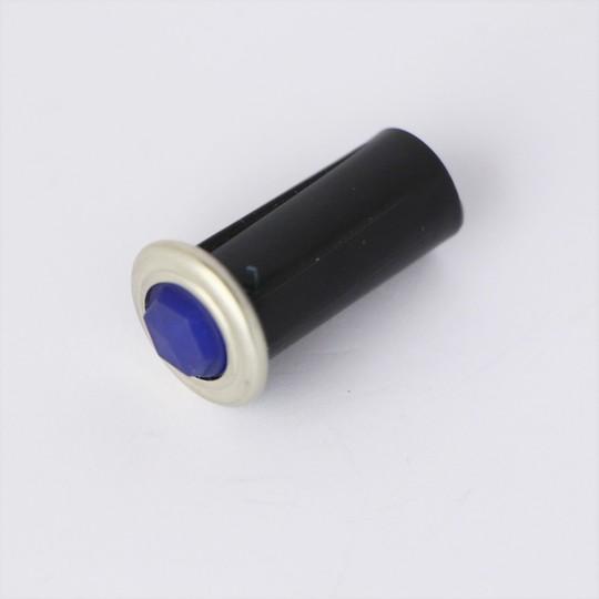 Main beam warning light pre 1968 - blue (jewel lens) - no bulb or holder