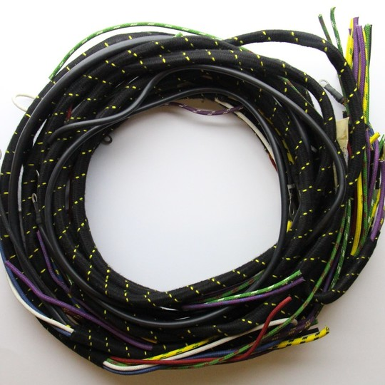 Wiring loom 4/4 Series 1 1937 on - cloth wrapped lacquered braided cable