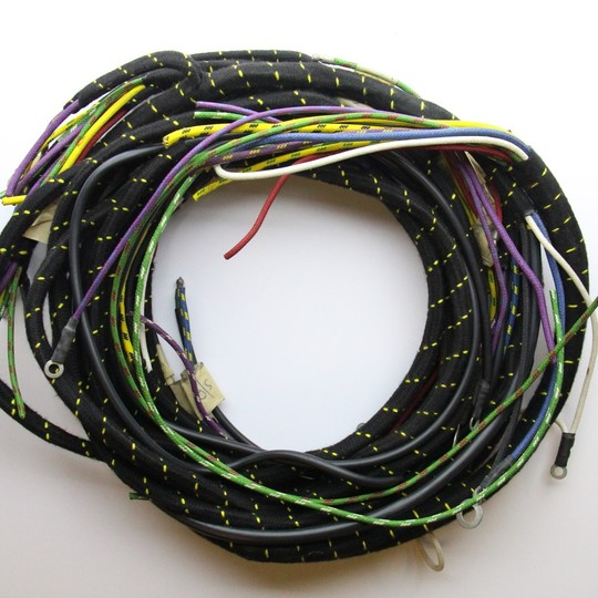 Wiring loom 4/4 series 1 1937 on with amber flashers (non standard) - cloth...
