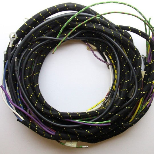 Wiring loom 4/4 1956-60 - cloth wrapped lacquer braided cable
