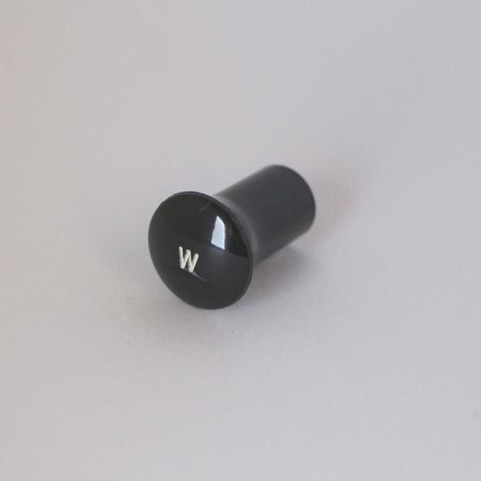 'W' knob - black 1961-68