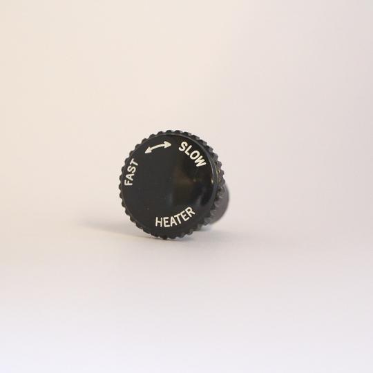 Knob for heater rheostat switch - black