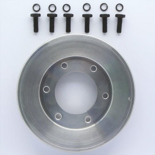 Crankshaft pulley +4 - aluminium (machined)