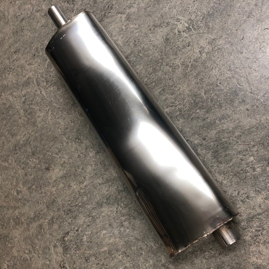 Centre silencer for +8 3.9l no catalyst single system 1991-96 & +4 with Rover...