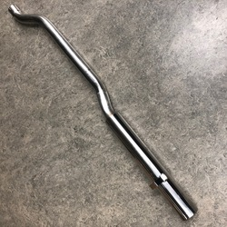 Straight through sports tail pipe for V6 roadster - left side (no internal...