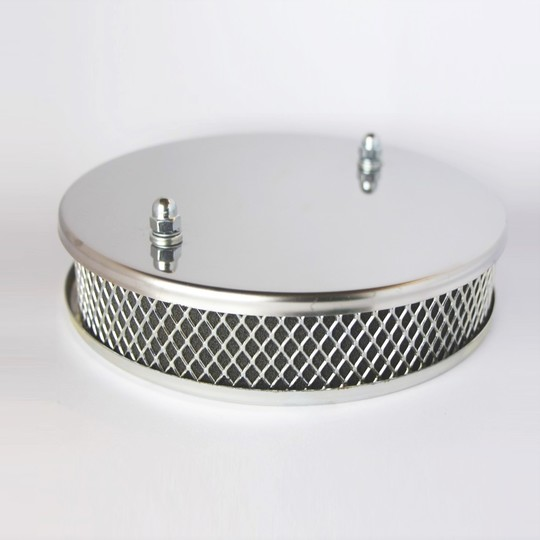 Chrome air filter 4/4 crossflow (DFA/DGV carb.)