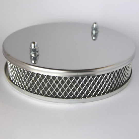Chrome air filter 4/4 crossflow (32 DFM carb.)