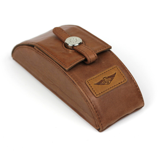 Eyeglass case - brown