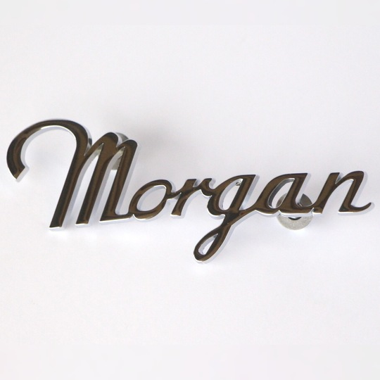 Morgan rear script badge