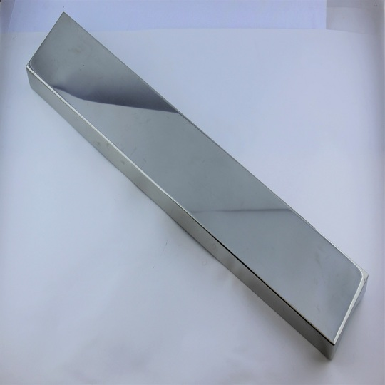 Stainless steel front number plate box, fits on chrome bumpers from 1993 to 1997