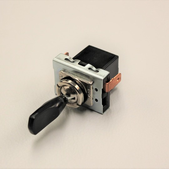 Black indicator toggle switch